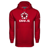 Under Armour Cardinal Performance Sweats Team Hood-Owls Soccer Geometric Ball