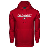 Under Armour Cardinal Performance Sweats Team Hoodie-Temple University Field Hockey Stencil
