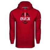Under Armour Cardinal Performance Sweats Team Hoodie-Temple University Owls Football Vertical