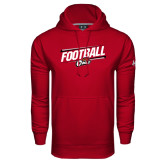 Under Armour Cardinal Performance Sweats Team Hood-Football Slanted