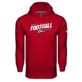 Under Armour Cardinal Performance Sweats Team Hoodie-Football Slanted