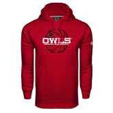 Under Armour Cardinal Performance Sweats Team Hoodie-Owls Womens Basketball w/Lined Ball