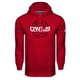 Under Armour Cardinal Performance Sweats Team Hoodie-Owls Womens Basketball w/Lined Ball