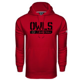 Under Armour Cardinal Performance Sweats Team Hoodie-Owls Basketball Stencil w/Bar