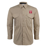 Khaki Long Sleeve Performance Fishing Shirt-Box T