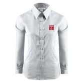 Ladies Red House White Long Sleeve Shirt-Box T