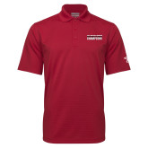 Cardinal Mini Stripe Polo-Bad Boy Mowers Gasparilla Bowl Champions - Text