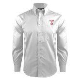 Red House White Dobby Long Sleeve Shirt-Knockout T