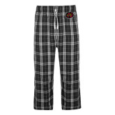 Black/Grey Flannel Pajama Pant-Owl Head