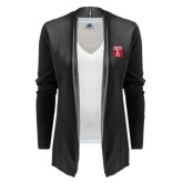 Ladies Black Open Front Cardigan-Box T