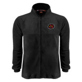 Fleece Full Zip Black Jacket-Owl Head
