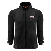 Fleece Full Zip Black Jacket-Temple Owl Club