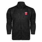 Black Heather Fleece Jacket-Box T