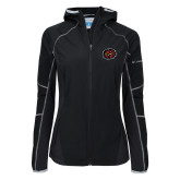 Columbia Ladies Sweet As Softshell Black Jacket-Owl Head