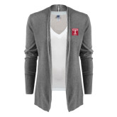 Ladies Heather Grey Open Front Cardigan-Box T