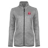 Grey Heather Ladies Fleece Jacket-Box T