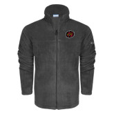 Columbia Full Zip Charcoal Fleece Jacket-Owl Head