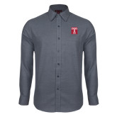 Red House Dark Charcoal Diamond Dobby Long Sleeve Shirt-Box T