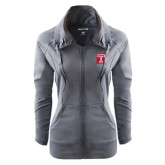 Ladies Sport Wick Stretch Full Zip Charcoal Jacket-Box T