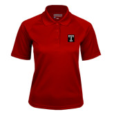 Ladies Cardinal Textured Saddle Shoulder Polo-Box T