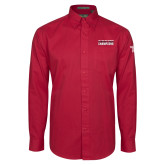 Cardinal Twill Button Down Long Sleeve-Bad Boy Mowers Gasparilla Bowl Champions - Text