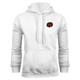 White Fleece Hoodie-Owl Head