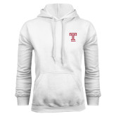 White Fleece Hoodie-Knockout T