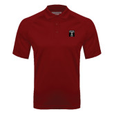 Cardinal Textured Saddle Shoulder Polo-Box T