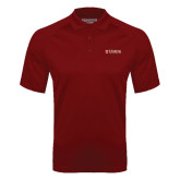 Cardinal Textured Saddle Shoulder Polo-University Mark