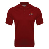 Cardinal Textured Saddle Shoulder Polo-Owls w/Owl Head