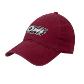 Cardinal Twill Unstructured Low Profile Hat-Temple Owl Club