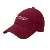 Cardinal Twill Unstructured Low Profile Hat-University Mark