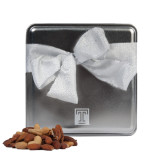 Deluxe Nut Medley Silver Medium Tin-Box T Engraved
