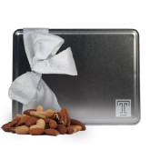 Deluxe Nut Medley Silver Large Tin-Box T Engraved