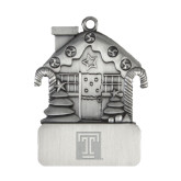 Pewter House Ornament-Box T Engraved