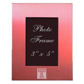 Pink Brushed Aluminum 3 x 5 Photo Frame-Box T Engraved