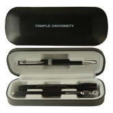Black Roadster Gift Set-Temple University Engraved
