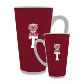 Full Color Latte Mug 17oz-Vintage Owl Atop T