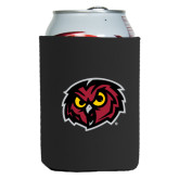 Neoprene Black Can Holder-Owl Head