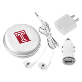 3 in 1 White Audio Travel Kit-Box T
