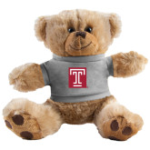 Plush Big Paw 8 1/2 inch Brown Bear w/Grey Shirt-Box T