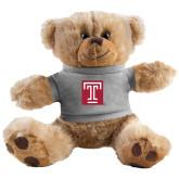 Plush Big Paw 8 1/2 inch Brown Bear w/Grey Shirt-Box T