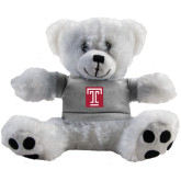 Plush Big Paw 8 1/2 inch White Bear w/Grey Shirt-Box T