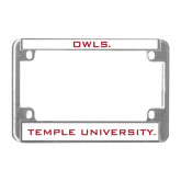 Metal Motorcycle License Plate Frame in Chrome-Owls
