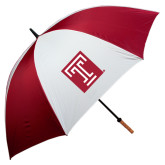 62 Inch Cardinal/White Umbrella-Box T
