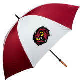 62 Inch Cardinal/White Umbrella-Owl Head