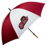 62 Inch Cardinal/White Umbrella-Owls w/Owl Head