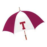 62 Inch Cardinal/White Umbrella-Vintage T