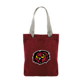 Allie Cardinal Canvas Tote-Owl Head
