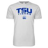 Next Level SoftStyle White T Shirt-Arched TSU Tigers
